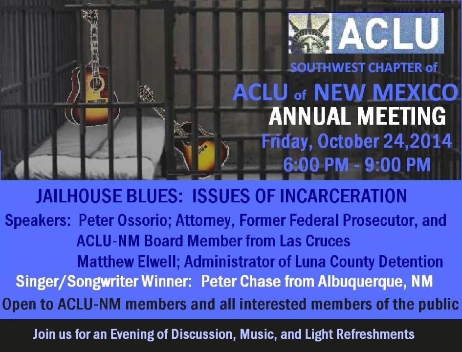 ACLU annual meeting silver city nm october 24 2014